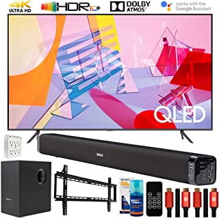 "SAMSUNG QN85Q60TA 85"" Q60T QLED 4K UHD TV (2020) with Deco Gear Home Theater Bundle"