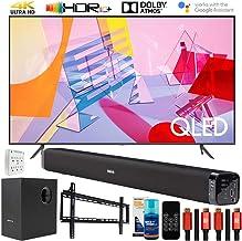 "SAMSUNG QN55Q60TA 55"" Q60T QLED 4K UHD TV (2020) with Deco Gear Home Theater Bundle"
