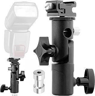 Anwenk Flash de cámara Speedlite Soporte giratorio para soporte giratorio con paraguas Soporte para reflector para cámara DSLR Nikon Canon Pentax Olympus y otros réflex DSLR Studio Light LED Light