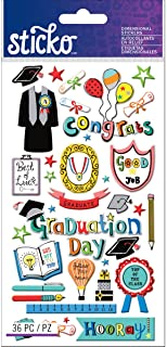 Sticko Graduation Stickers, Multi