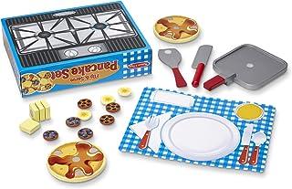 مجموعه مانیسا و داگ فلیپ و سرو پنکیک (19 قطعه) - صبحانه های چوبی بازی مواد غذایی