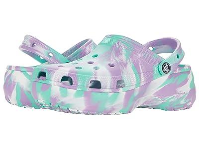 Crocs Classic Platform Marbled Tie-Dye Clog