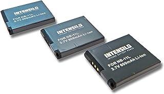 INTENSILO 3X Li-Ion batería 600mAh (3.7V) para cámara Canon Digital Ixus 150, 155, 160, 165, 240HS, 260 HS por NB-11L.
