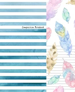 Composition Notebook: Dual Design Alternating Half College Ruled Half Blank Creative Sketchbook with Lined Pages Drawing or Doodling & Writing Journal Notebook Organizer