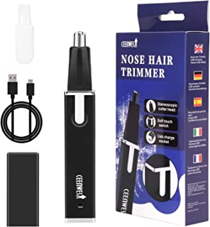 Rechargeable Nose Hair Trimmer Painless Eyebrow and Facial Hair Trimmer for Men and Women Nose Hair Cleaning System Personal Care Nose Trimmer Easy to Clean