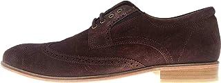 Manz Zapatos de Cordones de Piel para Hombre Marrón Muscat