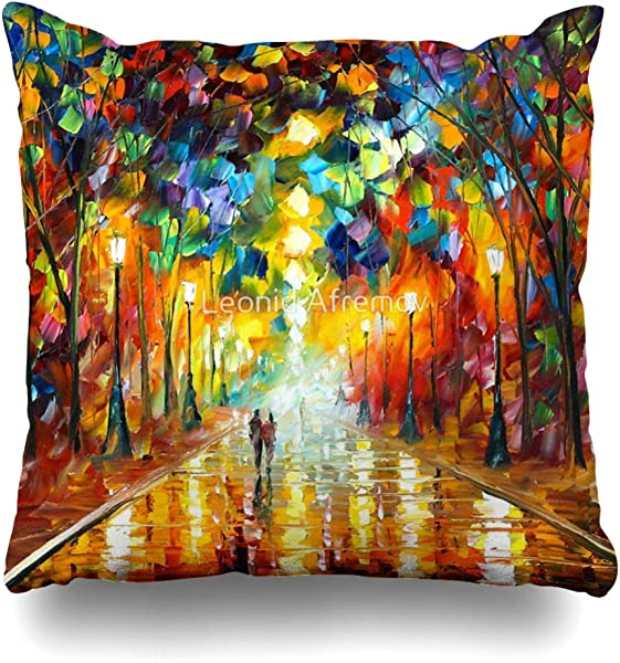 Ahawoso Throw Pillow Cover Square 16x16 Inches Farewell To Anger Leonid Afremov Decorative Pillow Case Home Decor Pillowcase