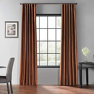 HPD Half Price Drapes PDCH-KBS36BO-96 Blackout Vintage Textured Faux Silk Curtain, 50 X 96, Copper Kettle