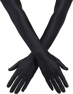black velvet opera gloves