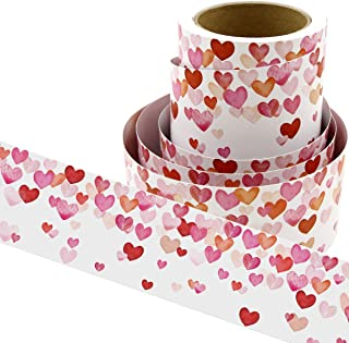 Water Color Heart Bulletin Board Borders Confetti-Themed for Valentine's Day Classroom Decoration 36ft