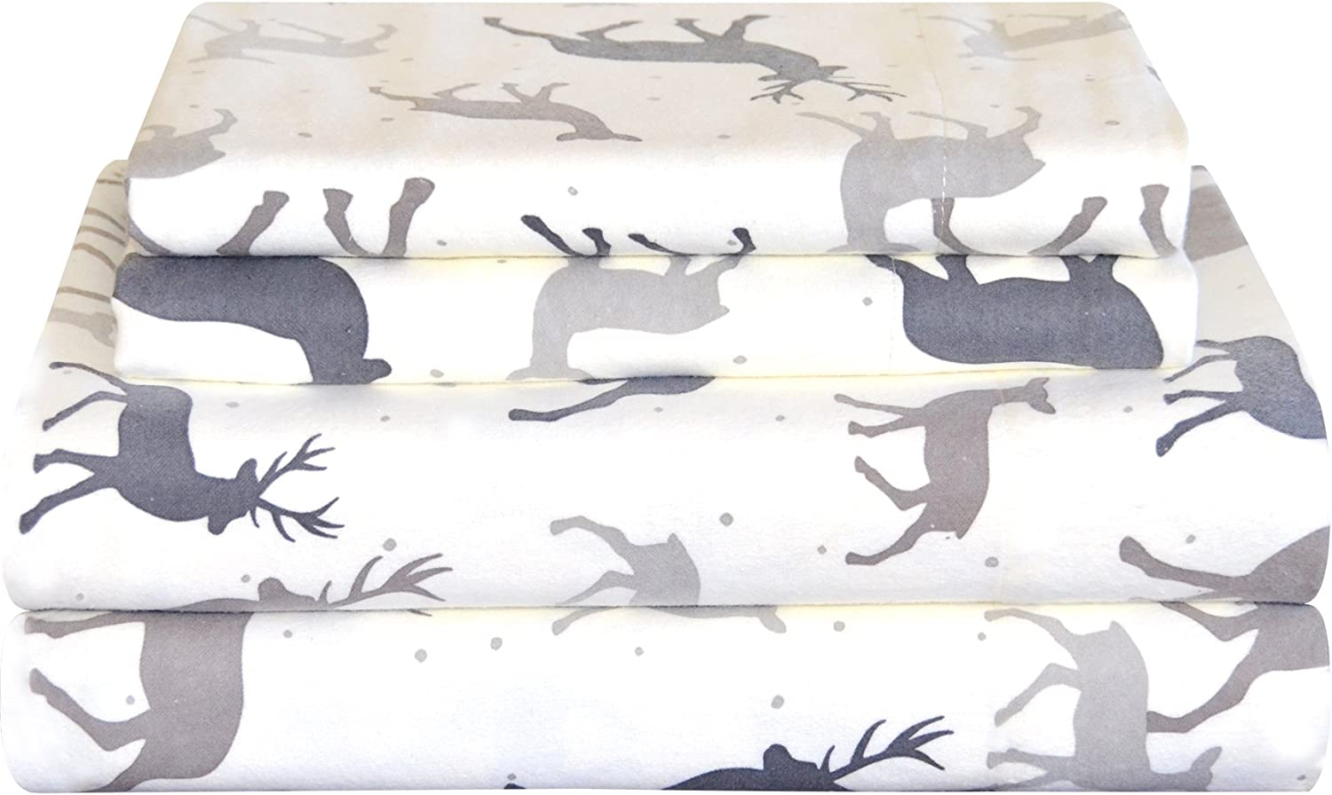 Pointehaven Heavy Weight Printed Flannel Sheet Set XL Twin Tampa Mall Long-awaited Aut