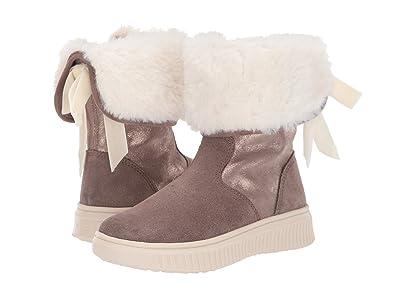 Geox Kids Jr Discomix 8 (Little Kid) (Dark Beige) Girls Shoes