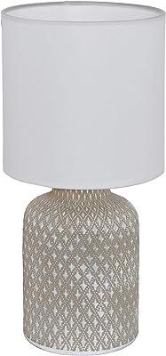 Eglo 97774 Lampe de Table, Céramique, 40 W, Gris