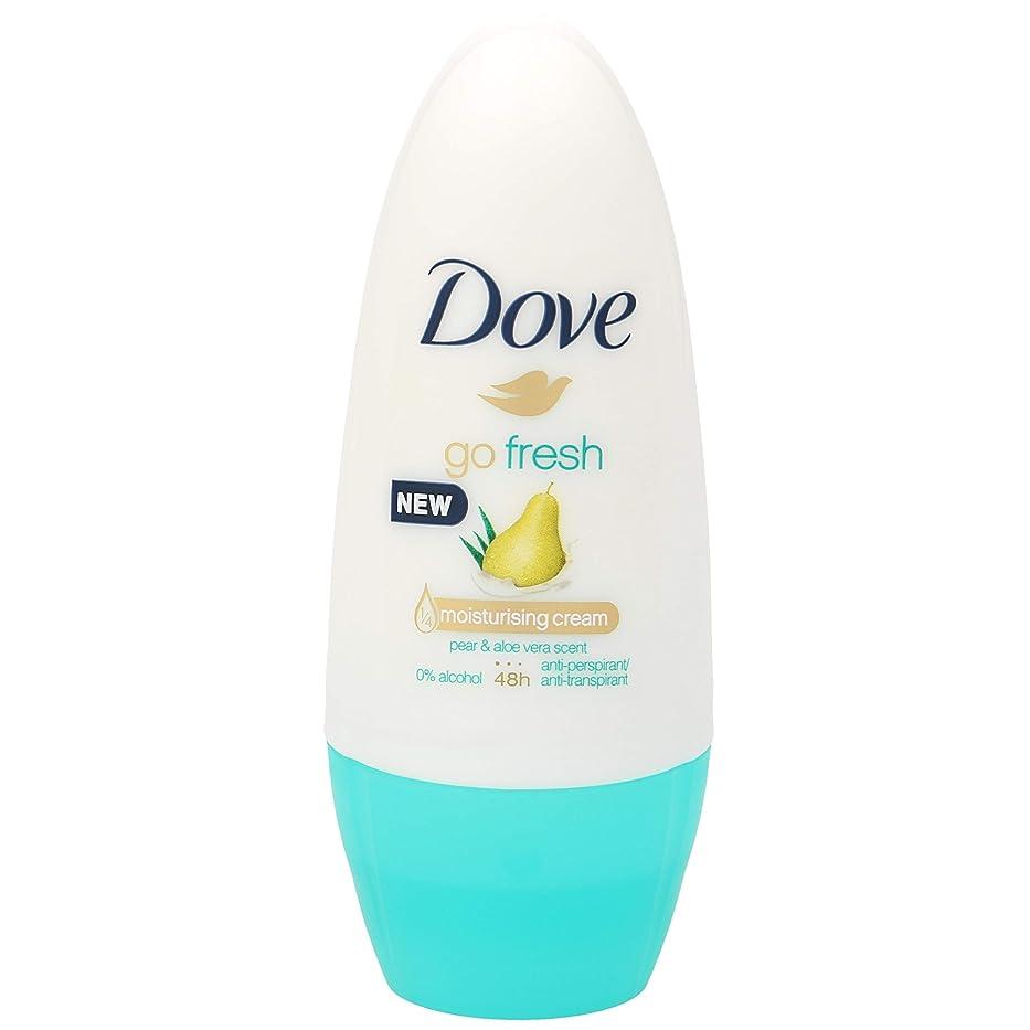 クアッガ仮装名詞[Dove ] 制汗デオドラント50ミリリットルに新鮮な梨とアロエベラロールを行く鳩 - Dove Go Fresh Pear And Aloe Vera Roll On Antiperspirant Deodorant 50Ml [並行輸入品]