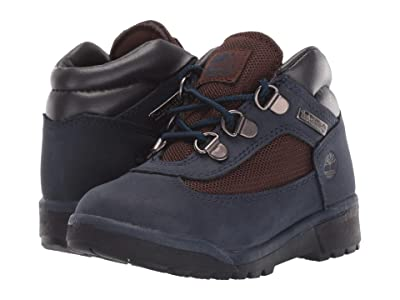 Timberland Kids Fabric/Leather Field Boot (Toddler/Little Kid) (Navy Nubuck) Kids Shoes