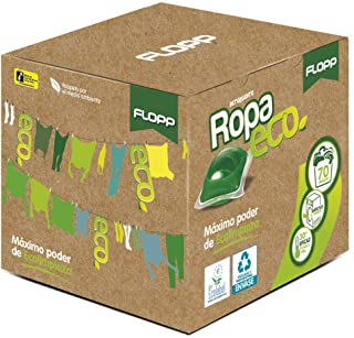 Flopp - Detergente Ecológico en Cápsulas para la Ropa, Estuche 70 Cápsulas   Detergente Eco para Lavadoras Ropa Blanca y C...