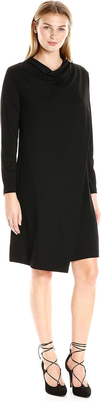 Joan Vass Womens Drape Front Dress Dress