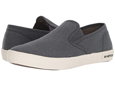 SeaVees 02/64 Baja Slip-on Standard (Slate Navy Vintage Wash Linen) Men