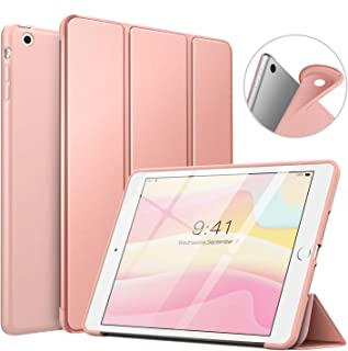 MoKo Case Fit iPad Mini 3/2 / 1, Slim Smart Shell Stand Folio Case with Soft TPU Back Cover Compatible with Apple iPad Mini 1/Mini 2/Mini 3, Auto Wake/Sleep - Rose Gold