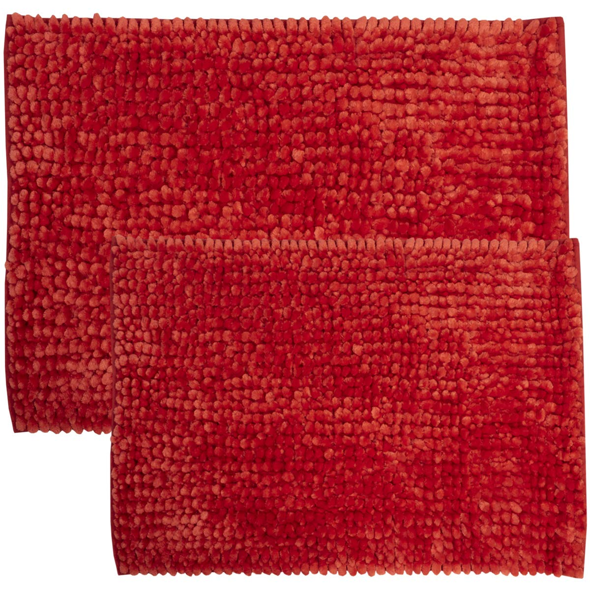 Amazon Com Sweet Home Collection Bath Set 2 Piece Butter Chenille Noodle Soft Luxurious Rugs Absorbent Non Slip Latex Back Microfiber Bathroom Mat 1 17 X 24 1 20 X 32 Burgundy