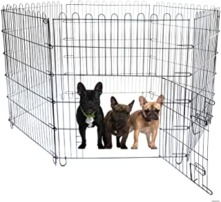 Bloodyrippa Foldable Metal Pet Exercise and Playpen with Door, 6 Panels Each Measuring 35.43'' by 31.5'', Easy Assembly, Suitable for Dogs Up to 23'' Tall
