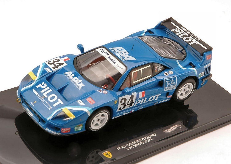 caliente ruedas HWX5508 Ferrari F40 N.34 LM 1995 FERTE-THEVENIN-Palau 1 43 Die Cast Compatibile con