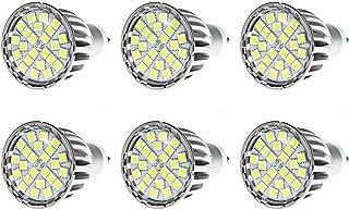 PACK OF 6 GU10 Twist & Lock Screw Fitting Flood Light LED Bulb 6 Watt 240V Replacement for 35W Halogen Bulbs of House Offi...