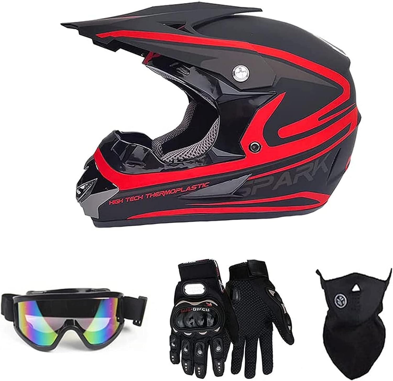 ODFNBD 55% OFF Directly managed store Full Face Motocross Helmet ATV Dirt Off-Road Unisex Bike