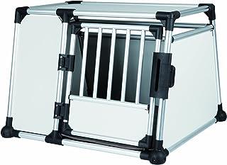 Trixie 39343 Transportbox, Aluminium, L: 93 × 64 × 81 Cm, Zilver/Zwart