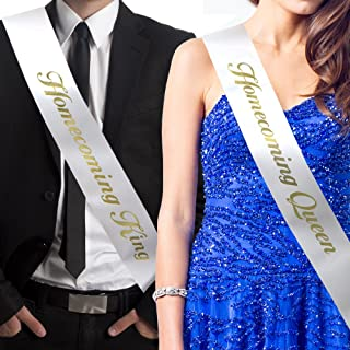 RibbonsNow Homecoming King and Homecoming Queen Sash Set (King & Queen) – Made in The USA