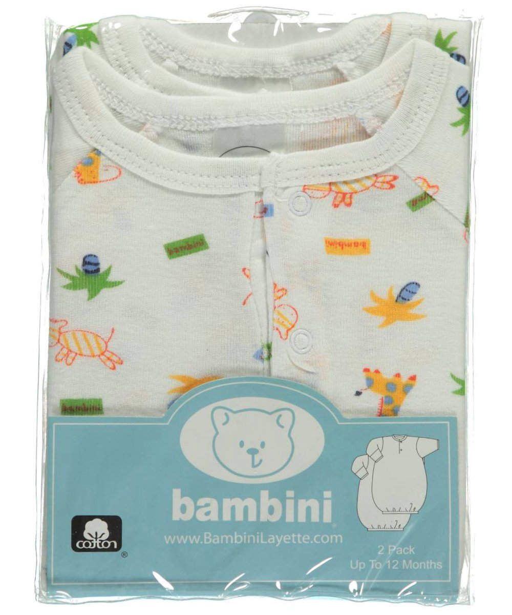 Bambini Boys Print Infant 2 Ranking TOP8 Gowns Colorado Springs Mall Pack -