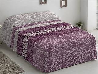 comprar comparacion Camatex - Conforter Catalina Cama 150 - Color Malva (edredón de Acolchado Grueso época de frío con Cintas y Botones como S...
