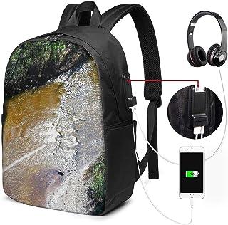 SNFDFS Mochila Bolsas con Puerto USB 15,6 Pulgadas, Moda Mochila De Viaje Camping Casual Mochila Kayak 8 Mochila Escolar Mochila