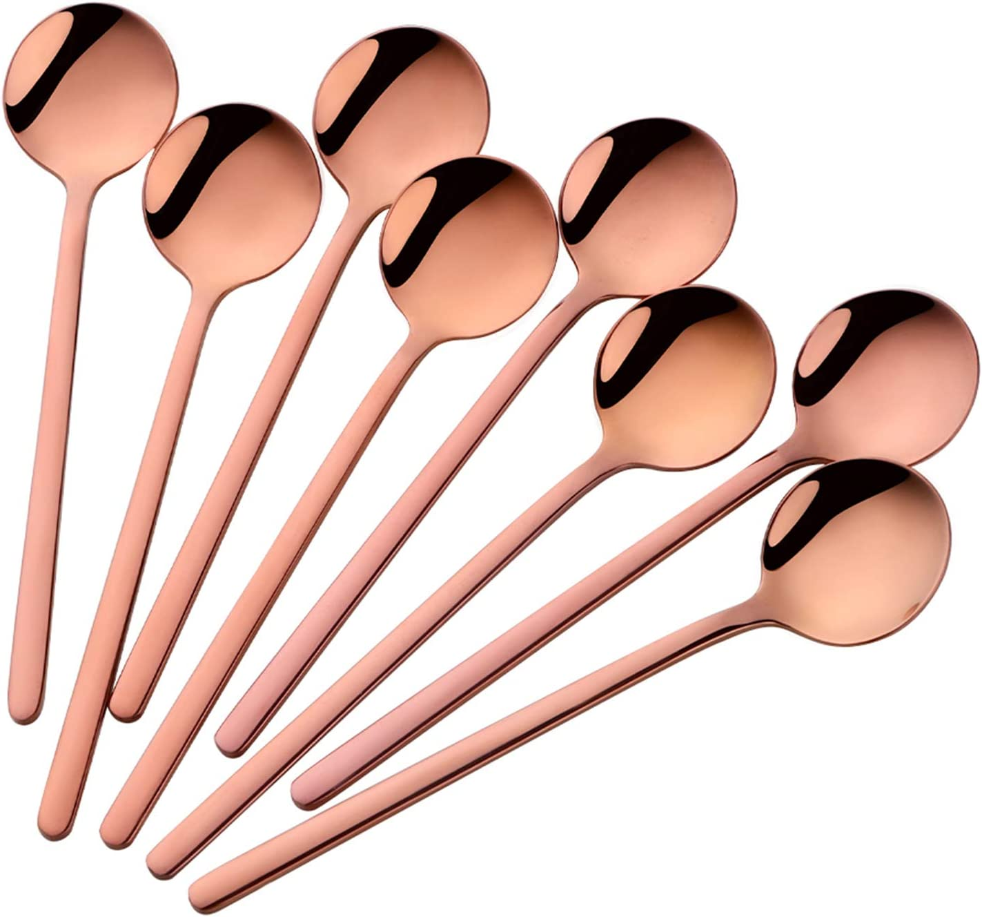 Ranking integrated 1st place Espresso Spoons Set of 8 Poylim 18 Max 90% OFF 10 Small Cute Coffee