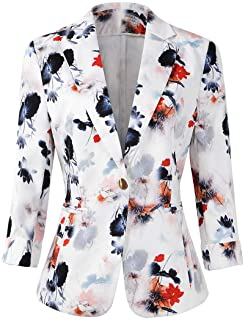 Womens 3/4 Sleeve Lightweight Office Work Suit Jacket...