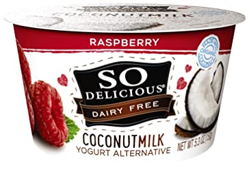 So Delicious Dairy Free Coconutmilk Yogurt Alternative, Raspberry, 5.3 oz