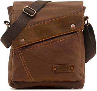 Sechunk Canvas Messenger Bags Shoulder Bags Crossbody Bags Purse Daypack for Men Women