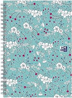 Oxford Floral - Cuaderno de espiral (A4, 140 páginas), diseño floral