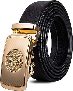 Mens Classic Crocodile 35mm Single Prong Belt Buckle,Golden