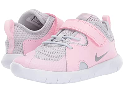 Nike Kids Flex Contact 3 (Infant/Toddler) (Pure Platinum/Metallic Silver/Pink Foam) Kids Shoes