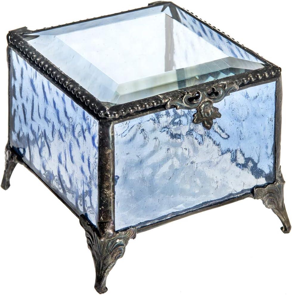 Blue Celtic Small Glass Trinket Bowl