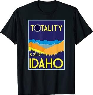Idaho Total Solar Eclipse 2017 T-Shirt Totality Retro Tee