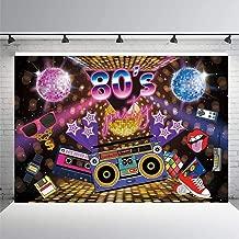 KSZUT 80s Party Backdrop Disco Theme Retro Style Photo Backdrop 7x5 80's Birthday Background Sign Hip Hop Disco Backdrops for Photography