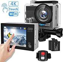 Action Camera, Tintec 4K Touchscreen Sports DV Ultra HD WiFi Camcorder/16MP 170°Wide Angle/2