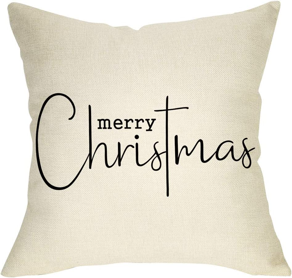 Softxpp Merry Christmas Challenge the lowest price Ranking TOP12 of Japan ☆ Throw Pillow Sign Decorative Cover Xmas