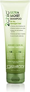 GIOVANNI 2chic Ultra-Moist Shampoos, (Dry/Damaged Hair), Avocado and Olive Oil, 300g