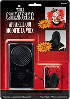 Amscan Halloween Voice Changer Party Supplies, Black