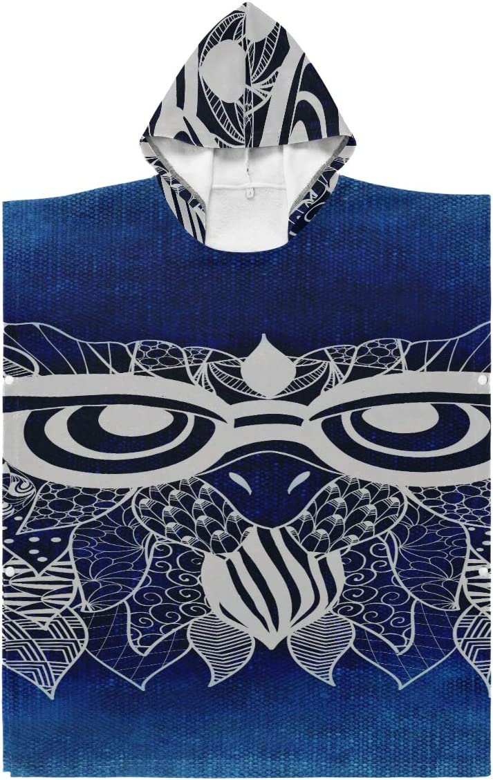 Lajro Surf Towels Changing Brand new Poncho Funny New sales 101494 Bird Abstract Owl