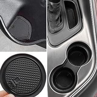 Auovo Non-SlipAnti-dustInteriorCustomFitCup DoorCenterConsoleLinerAccessoriesfor2015 2016 2017 2018 2019 Dodge Challenger 11pcs (Black)
