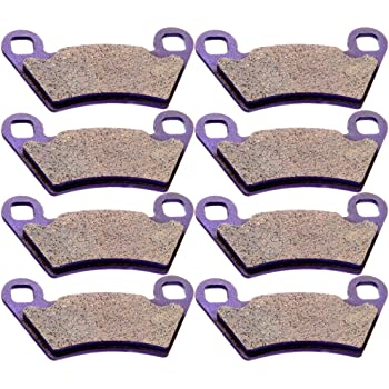 OCPTY Carbon Fiber Brake Pads FA354 Fit for 2013 2014 Polaris Ranger 800,2004 2005 2006 Polaris Ranger TM,2005 2006 Polaris Ranger XP 700 Front and Rear 4 Pair 8 pads